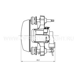 Модуль LTR D90, Дальний свет (FF, H1) 12V, фото , изображение 4