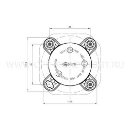 Модуль LTR D90, Дальний свет (FF, H1) 12V, фото , изображение 5