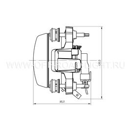 Модуль LTR D90, Дальний свет с г/о (FF, T4W ,H1) 24V, фото , изображение 4