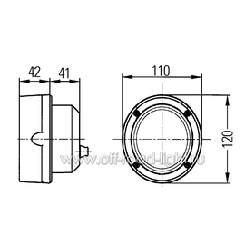 Module 70 FF Close Range, монтаж (FF, H3), с лампой 12V, фото , изображение 3