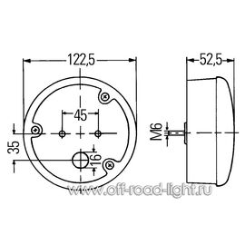 Фонарь заднего хода (37-LED) 24V Left, фото , изображение 2