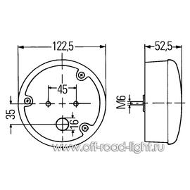 Фонарь заднего хода (37-LED) 24V Right, фото , изображение 2
