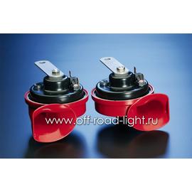 Комплект звуковых сигналов Hella TE16, Красный 12V, фото