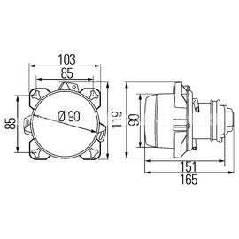 Модуль D90мм ближний свет, фото , изображение 4