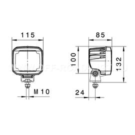 Светодиодная фара Ultra Beam LED Long range, фото , изображение 4