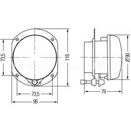 Модуль D90мм противотуманный, фото , изображение 4