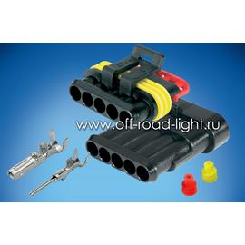 Влагозащищенный разъем Superseal 5-pin Комплект, фото-