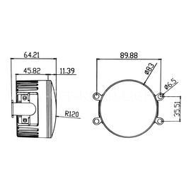 Комплект светодиодных противотуманных фар с ДХО LTR FL DRL 90мм, фото , изображение 2