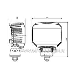 Power Beam 1000 (6 LED) 12V-24V, фото , изображение 2