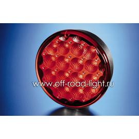Задний светодиодный фонарь, красное стекло (24 LED) 9-31V, фото