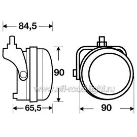 Правая фара дневного освещения D 90мм (LED), фото , изображение 2