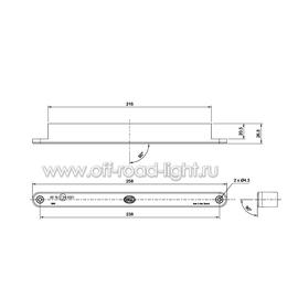 Комплект дневных ходовых огней Line (12 LED) 12V, фото , изображение 2