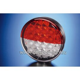 Задний светодиодный фонарь, прозр/крас стекло (24 LED) 9-31V, фото