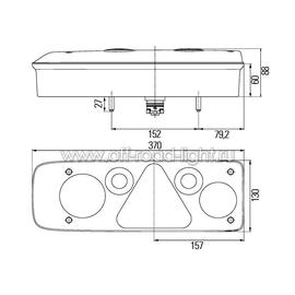 Задний комбинированный фонарь с резиновым рогом. Left, фото , изображение 2