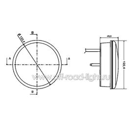 Задний светодиодный фонарь, прозрачное стекло (24 LED) 9-31V, фото , изображение 2
