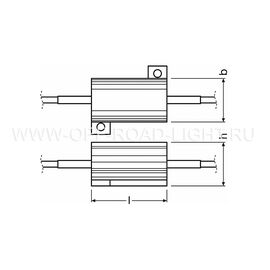 Резистор (обманка) OSRAM LEDCBCTRL101, 5W, фото , изображение 2