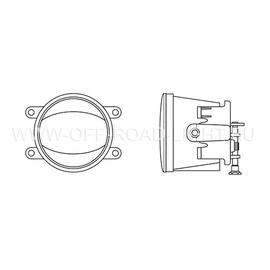 """Фара противотуманная OSRAM LEDFOG103 SR """"Орлиный глаз"""", 6000K, серебристый, 4W/12W, фото , изображение 2"""
