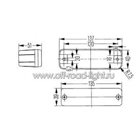 Передний указатель поворота для бамперов ARB, Fristom, желтый, фото , изображение 2