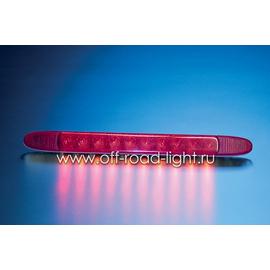 Стоп сигнал для внешней установки, красный (10 LED) 12V, фото