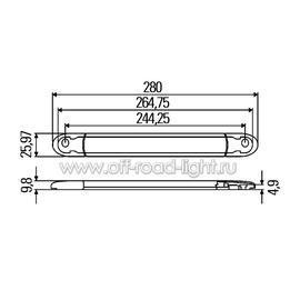Стоп сигнал для внешней установки, серый (10 LED) 12V, фото , изображение 2