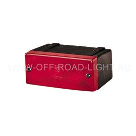 Задняя ПТ фара Hella (P21W, без лампы) накладной, фото-
