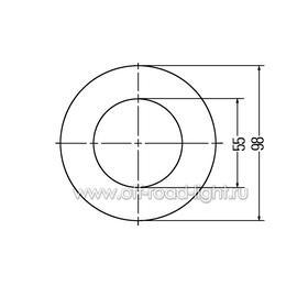 Задний стоп сигнал LED, D55мм/98мм, 2.1W 24V, фото , изображение 2