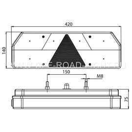 Задний комбинированный фонарь Fristom (12-36В), правый, фото , изображение 4