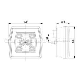 Фонарь противотуманный Fristom LED, г/о, ПТ, фото , изображение 2