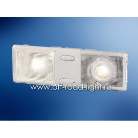 Салонный светильник с лампой для чтения (P21W, R10W) 12V, фото