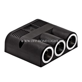 Розетка прикуривателя с 3-мя контактами, 12V, 24V, фото-