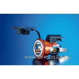 Розетка прикуривателя врезная c красной подсветкой, 12V, фото