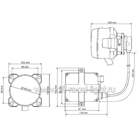 Модуль D 90мм, Дальний свет, Ксенон, Ref. 37,5 (FF, D2S,T4W), фото , изображение 3