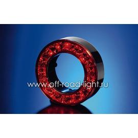 Задний габаритный огонь/стоп сигнал, красное стекло LED 24V, фото