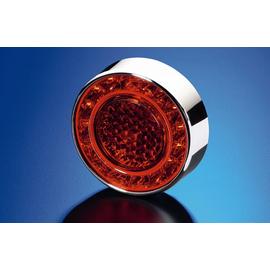 Задний габаритный огонь/стоп сигнал, красное стекло LED 12V, фото , изображение 4
