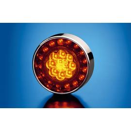 Задний габаритный огонь/стоп сигнал, красное стекло LED 12V, фото , изображение 5