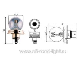R2 Лампа Hella 24V 55/50W (P45t), фото , изображение 3