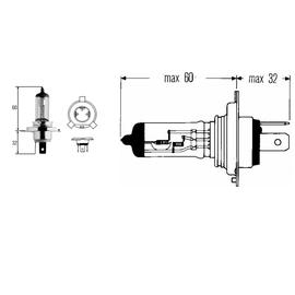 H4 Лампа Hella 12V 60/55W (P43t), фото , изображение 2