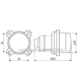 Модуль D 90мм, Ближний свет, Ксенон (DE, D2S) 24V, фото , изображение 3