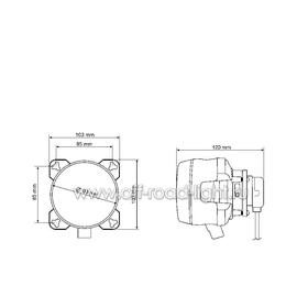 D90мм Дальний свет, Ксенон, оптический элемент  (FF, D2S,T4W), фото , изображение 3