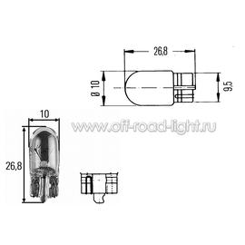 W3W Лампа Hella 12V 3W (W2,1x9,5d), фото , изображение 2