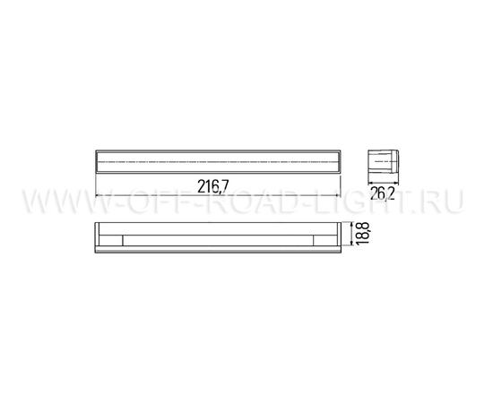 Комплект дневных ходовых огней 12 LED 24V, фото , изображение 2