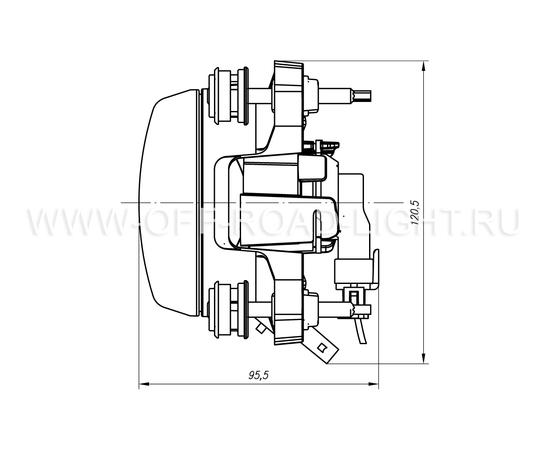 Модуль LTR D90, Дальний свет с г/о (FF, T4W ,H1) 24V фото-5