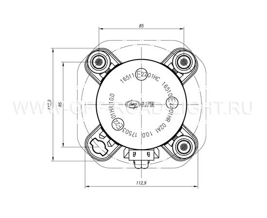 Модуль LTR D90, Дальний свет с г/о (FF, T4W ,H1) 24V фото-6