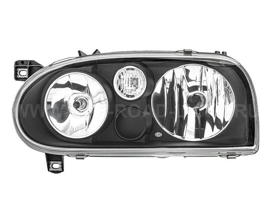 Фара основная Volkswagen Golf III, черн, левая, фото