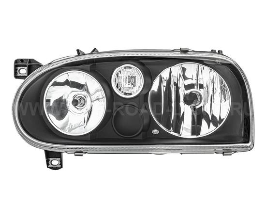 Фара основная Volkswagen Golf III, черн, правая, фото