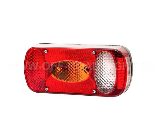 Задний комбинированный фонарь Fristom левый со светом заднего хода и освещением номера, фото-