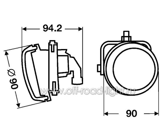 DynaView® Evo2, Правый оптический элемент (FF, H7) фото-3