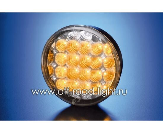 Задний светодиодный фонарь, прозрачное стекло (24 LED) 9-31V, фото