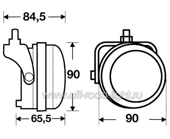 Правая фара дневного освещения D 90мм (LED) фото-2