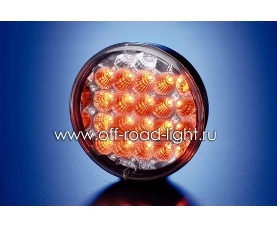 Задний светодиодный фонарь, прозрачное стекло (24 LED) 9-31V фото-1
